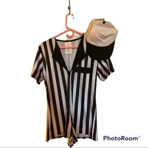 Adult Referee one piece romper and cap size medium